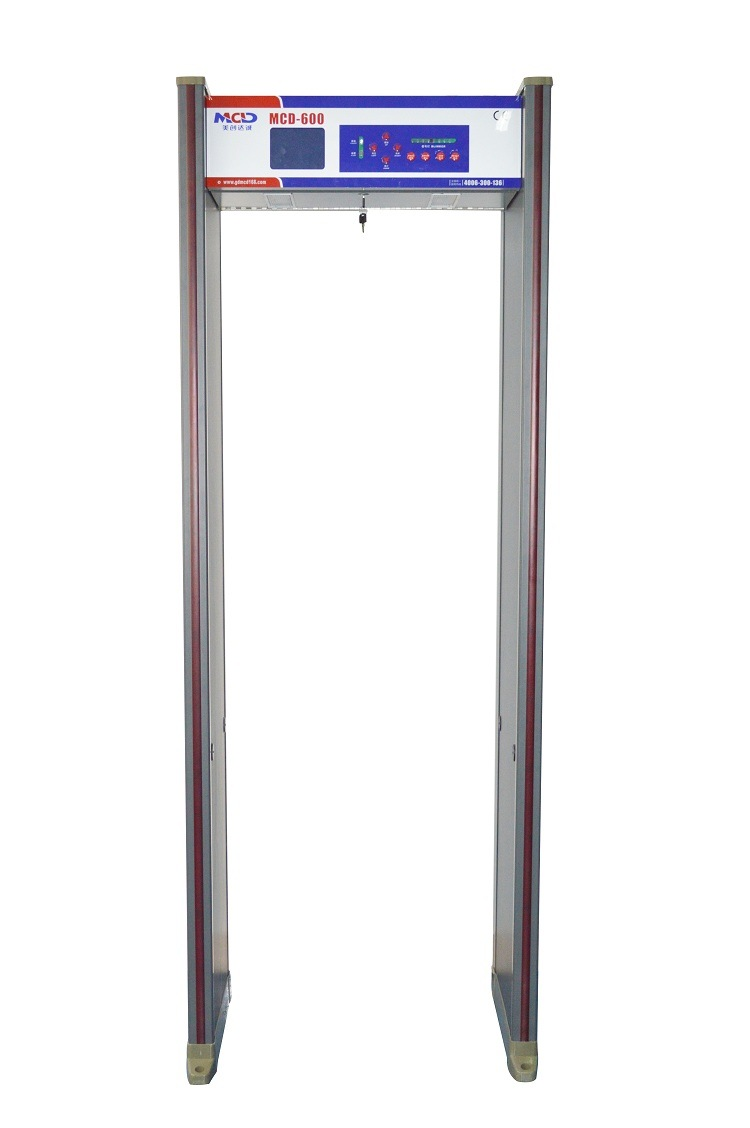 MCD-600 Muti-Zones Walk Through Metal Detector Door Frame Walkthrough Metal Detector