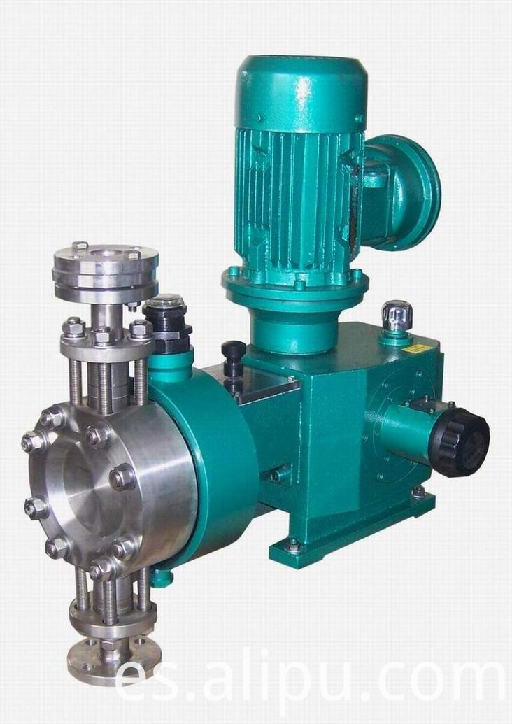 Hydraulic diaphragm dosing pump