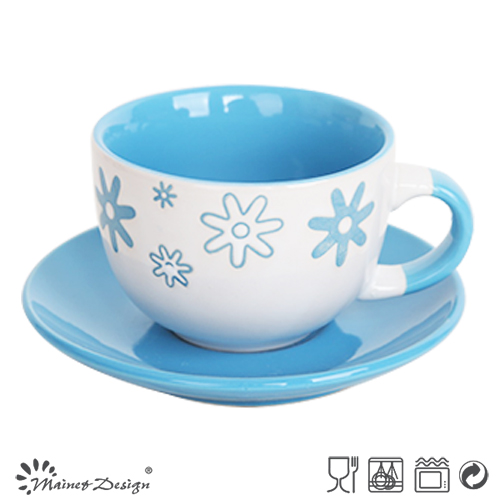 Merry Christmas Holiday Season 8oz Cups and Saucers