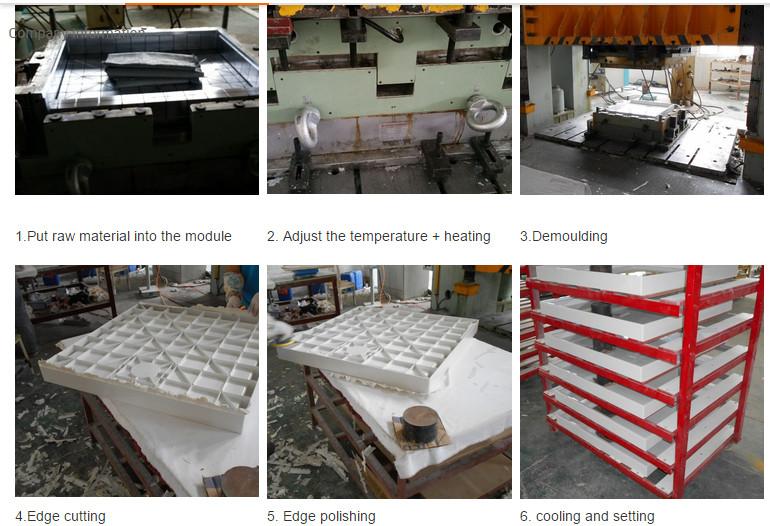 Sanitary Ware 900*800 Popular SMC Shower Tray Stone Effect Surface (ASMC9080S)