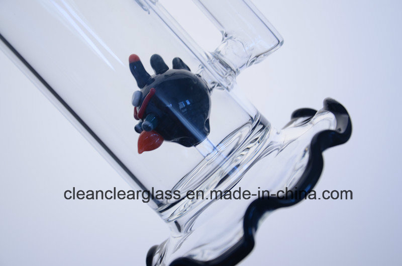 High Quality Glass Water Pipe Smoking Pipe with Angry Bird Perc