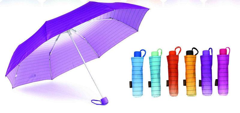 Stripe Rainbow Windproof Compact Umbrellas (YS-3FA22083961R)