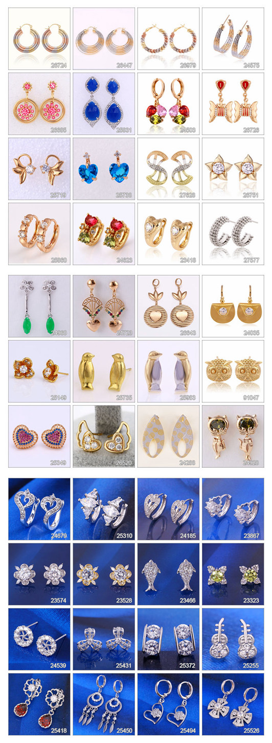 91994 Fashion Simple Gold-Plated Jewelry Earring Studs in Metal Alloy