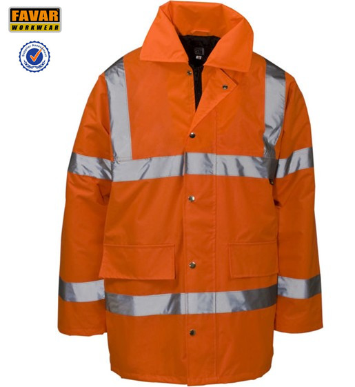 High Vis Protect Waterproof Oxford Jacket