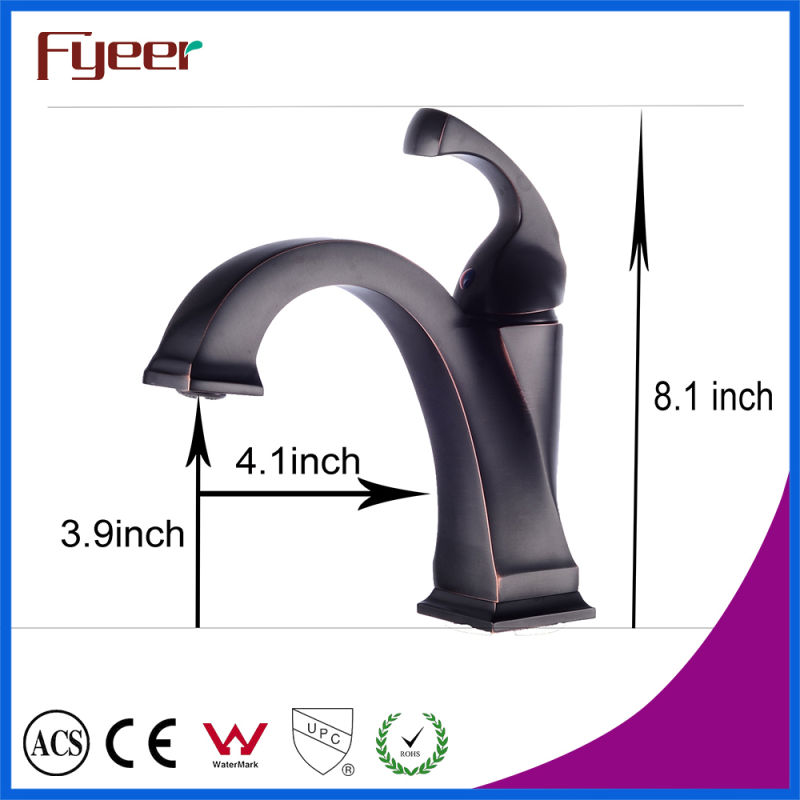 Fyeer Black Bathroom Antique Copper Faucet
