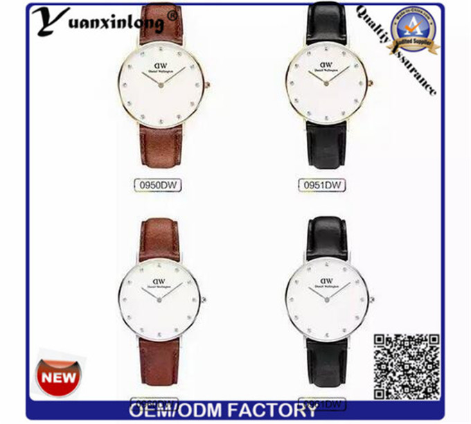 Yxl-654 Fashionable Japan Movt Quality Italian Leather Straps Watches