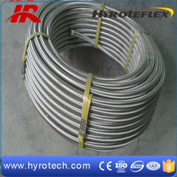 Smoothbore Stainless Steel Braid Hose/PTFE Teflon Flexible Hose/SAE100 R14