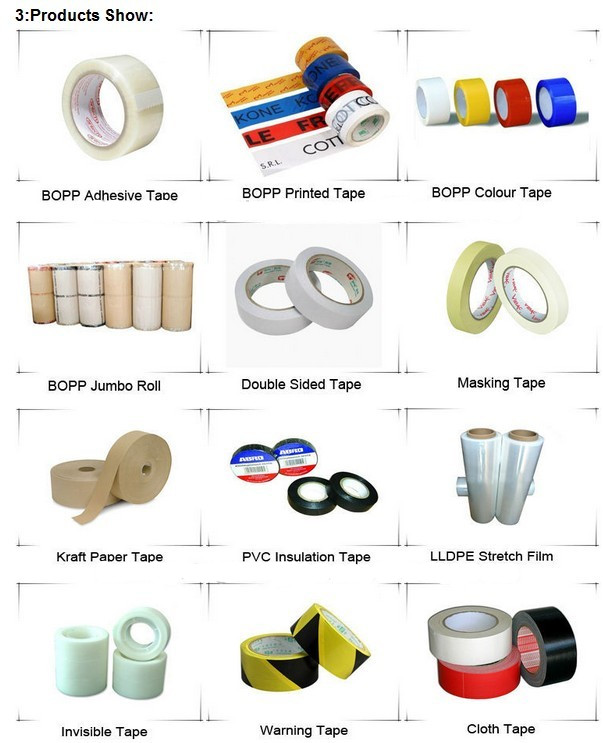 BOPP/OPP Adhersive Super Clear Tape for Packaging Carton Sealing SGS & ISO9001 Approval