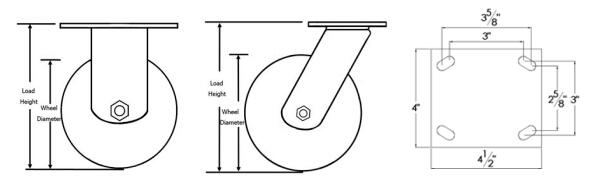 Heavy Duty 8 Inch Needle Bearing Casters