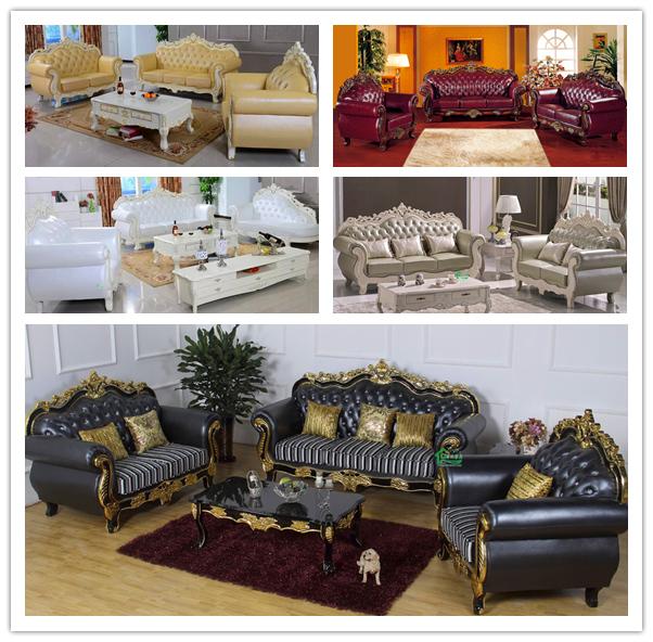 Fabric Sofa Set / Living Room Sofa / Wooden Sofa (929A)