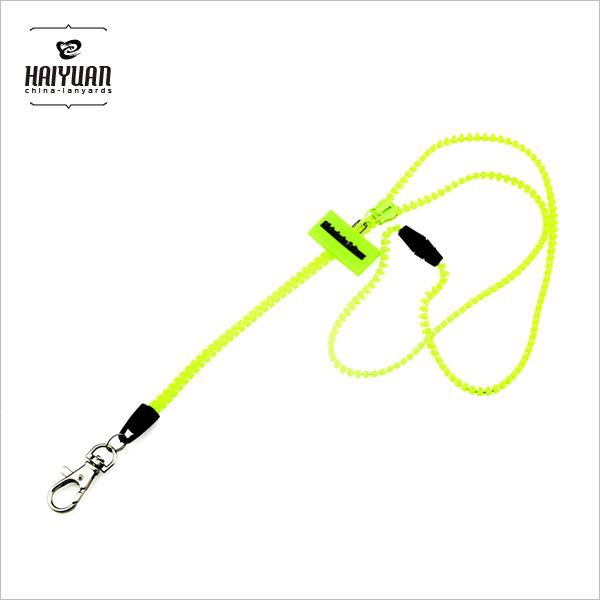 Fashion Zipper Lanyard with PVC Tag