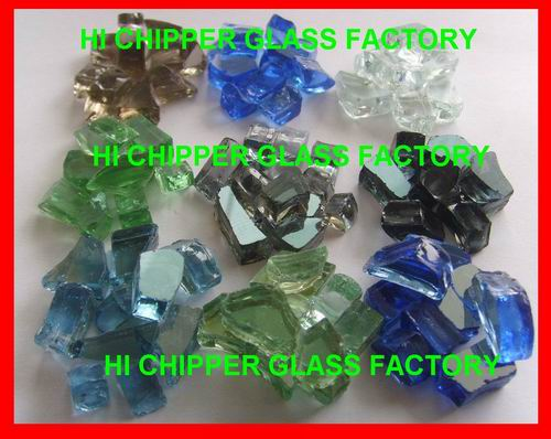 Landscaping Glass Chips Light Green Squash Glass Mirror Scraps
