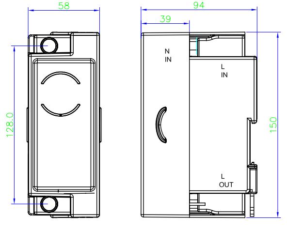 DIN Rail Mounting Keypad Split Energy Meter with Ciu
