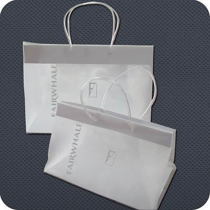 Printed Plastic Clip Handle Shopping Bag