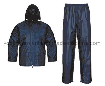 Adult's Polyester Polyester/PVC Waterproof Rain Suit Rainsuit Raincoat Workwear Rainwear