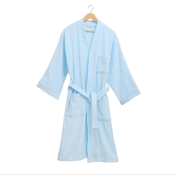 Good Quality Cotton Velour Terry Bathrobe for Hotel SPA