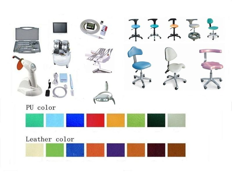 Ce Approved Meidical Equipment Dental Chair with LED Scaler