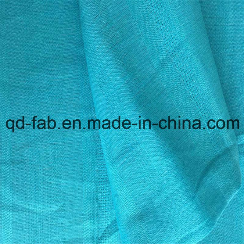 Blue Jacquard Cloth Linen Fabric (QF16-2473)