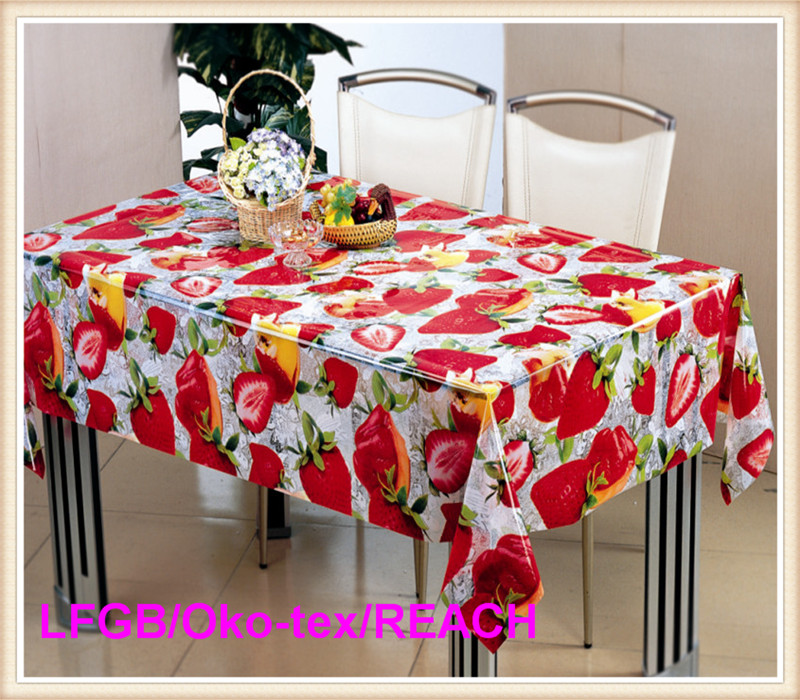 PVC Transparent Printed Tablecloth