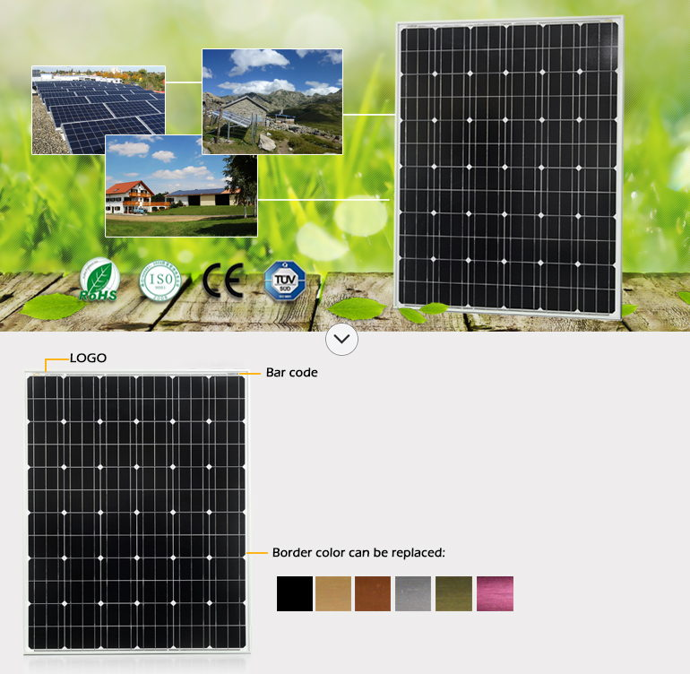 a-Grade Cell High Efficiency PV Solar Panel