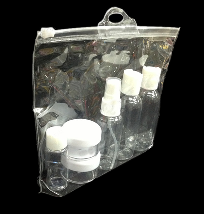 PVC Clear Buckle Handle Packing Bag for Cosmetic