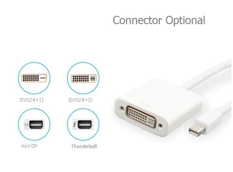 Adaptateur Mini Dp Male vers DVI Femelle Convertisseur Display Port vers DVI