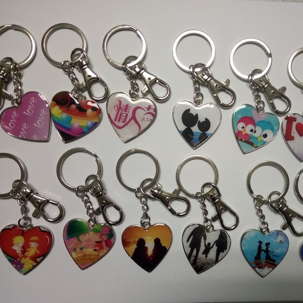 High Quality Cheap Stainless Steel Printing Key Ring for Promotional