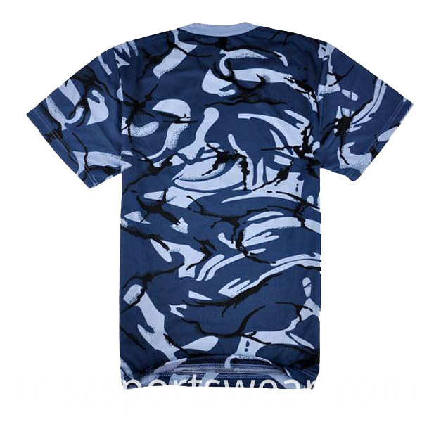 Plain Custom Camo Dry Fit T Shirts for Sales
