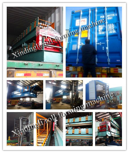 Three Layer Steel Roofing Profile Roll Forming Machine for Cameroon Customer