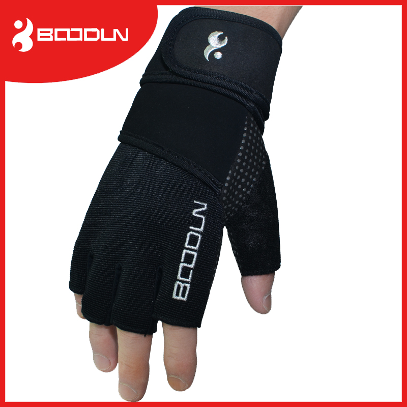 Custom Gym Gloves with Long Wrist for Weightligting Used