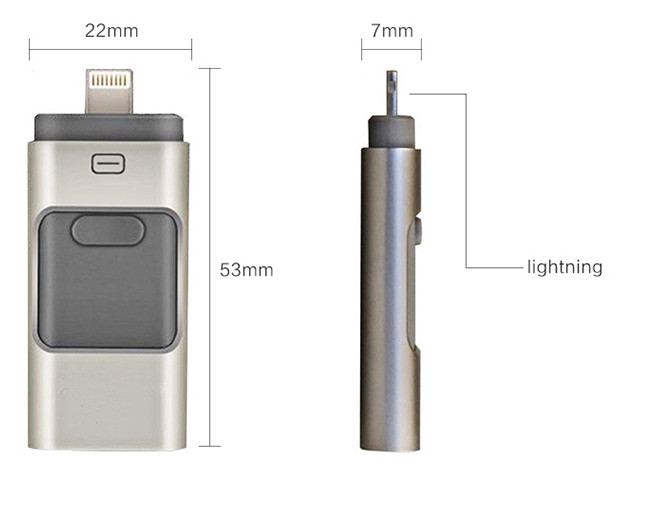 Flash Drive Factory Hot Sell 8GB 16GB 32GB 64GB 128GB Metal USB Pen Drive Special for iPhone