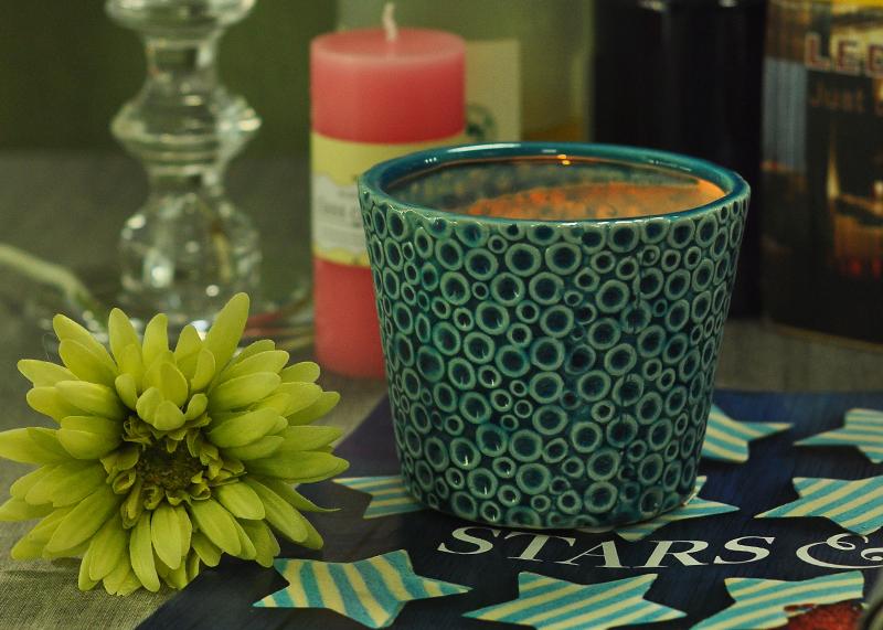 Decorative Ceramic Candle Jar
