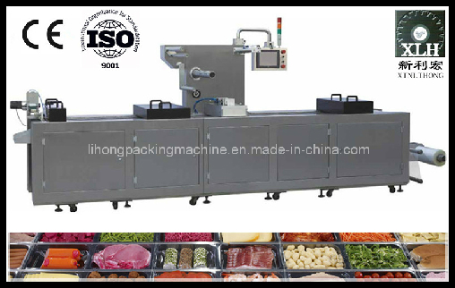 Dlz-460 Full Automatic Continuous Stretch Meat Vacuum Packing Machine