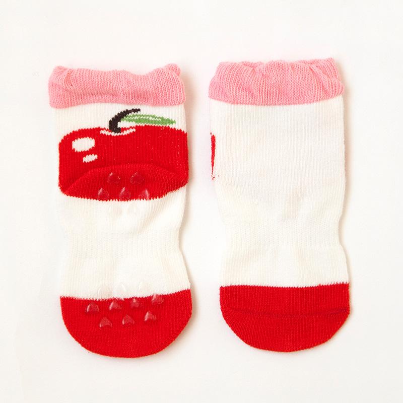 Comfortable Ruffle Eco-Friendly Anti-Slip Dots Kid Cotton Socks