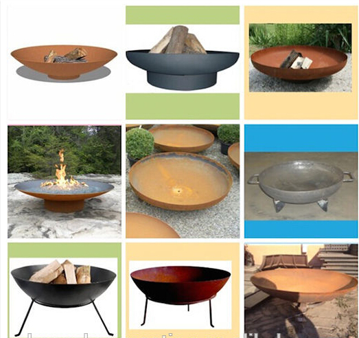 Rust or Painting Garden Patio Fire Pit / Fire Bowl