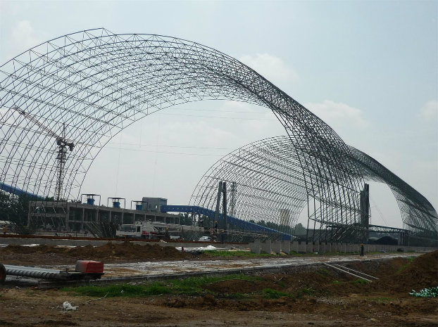 Large Span Prefabricated Steel Truss Structure Aircraft Hangar