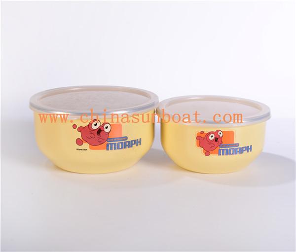 Sunboat Enamel Food Bowl /Enamel Salad Bowl/Enamelware