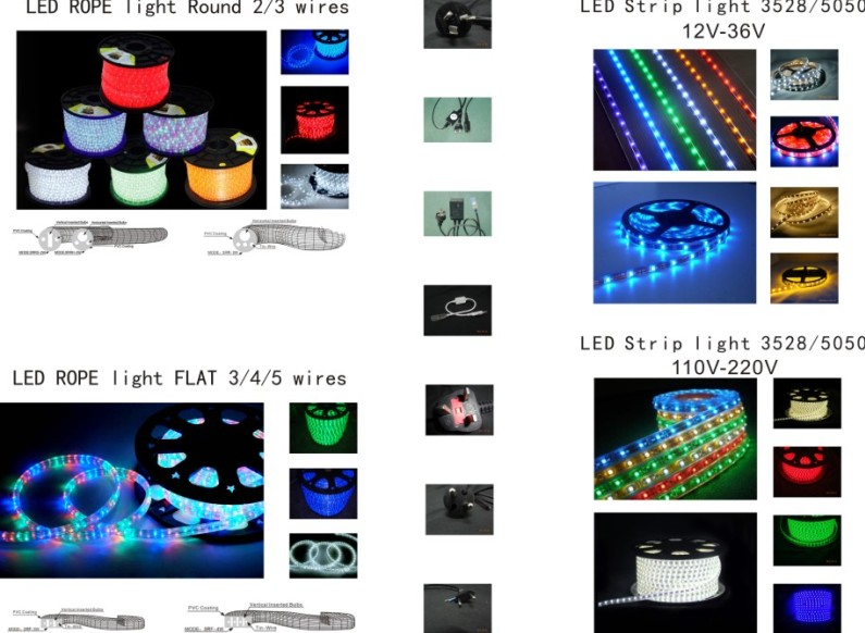 LED Rope Light (2 wires) /Decorative Light: