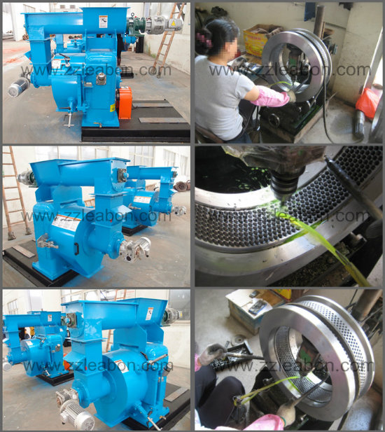 Gearbox Driven Ring Die Biomass Wood Pellet Mill Machine