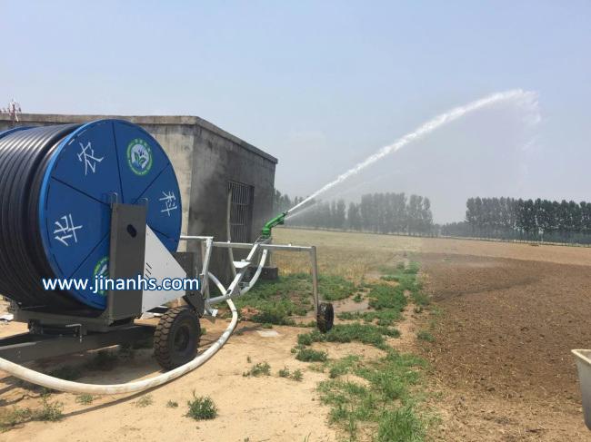 Agriculture Farm Traveling Water Turbine Hose Reel Irrigation with Sprinkler