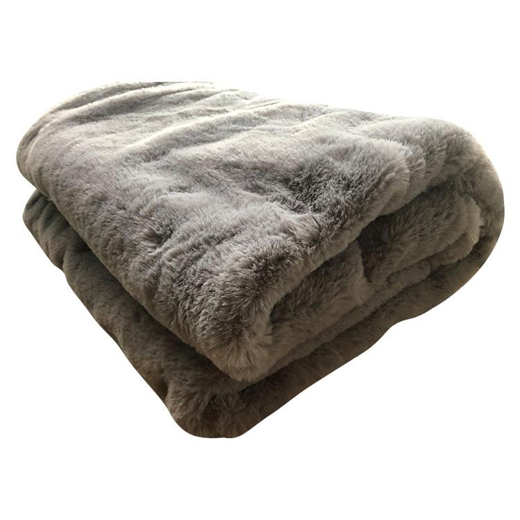 rabbit fur blanket