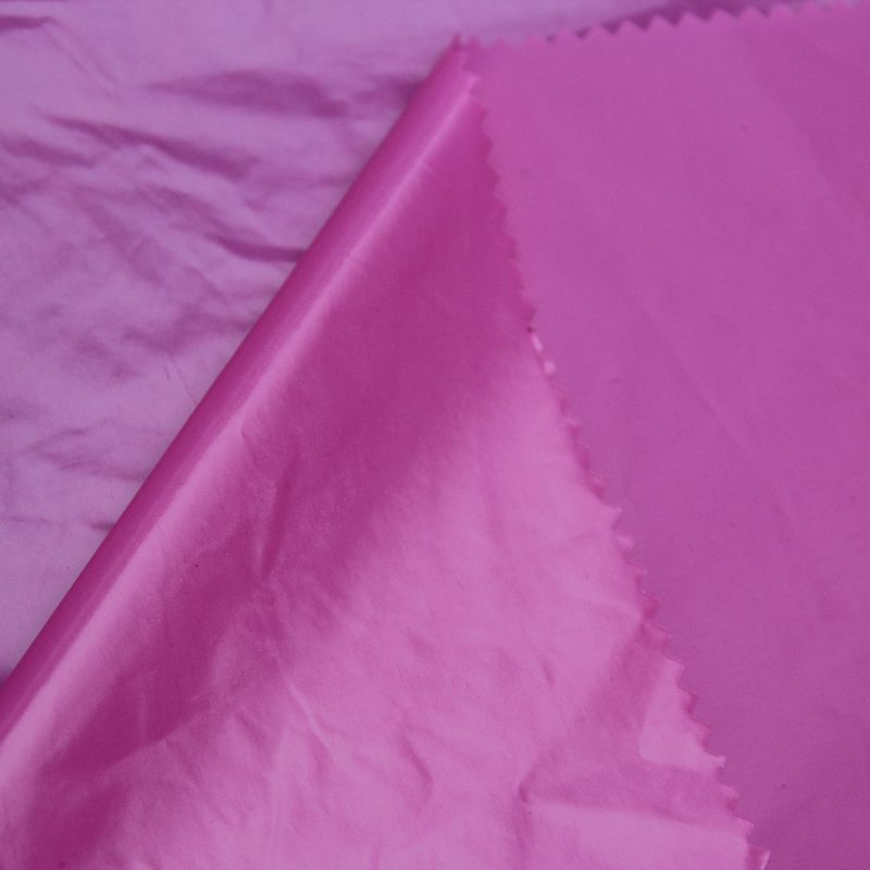 380t Nylon Taffeta Fabric with Ultrabright PU Coating for Down Coat