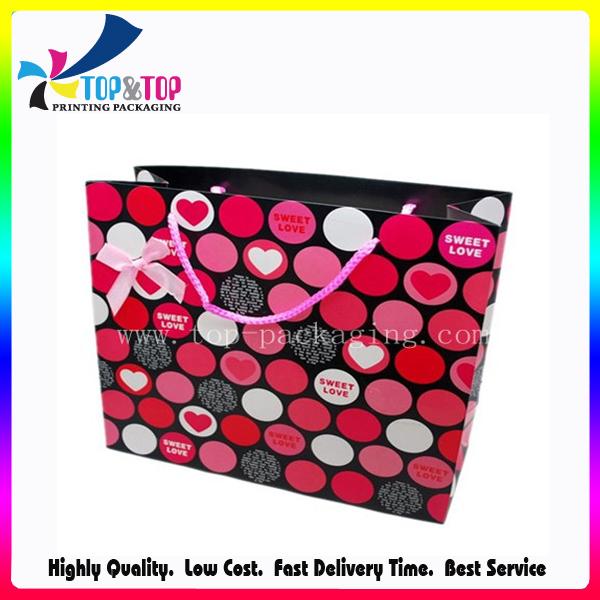 Guangdong Manufacturer Custom Paper Drawstring Gift Bag