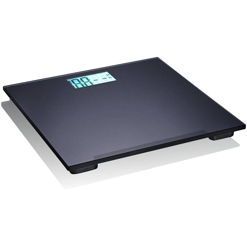 Bathroom Black Slim Glass Electronic Weight Scale