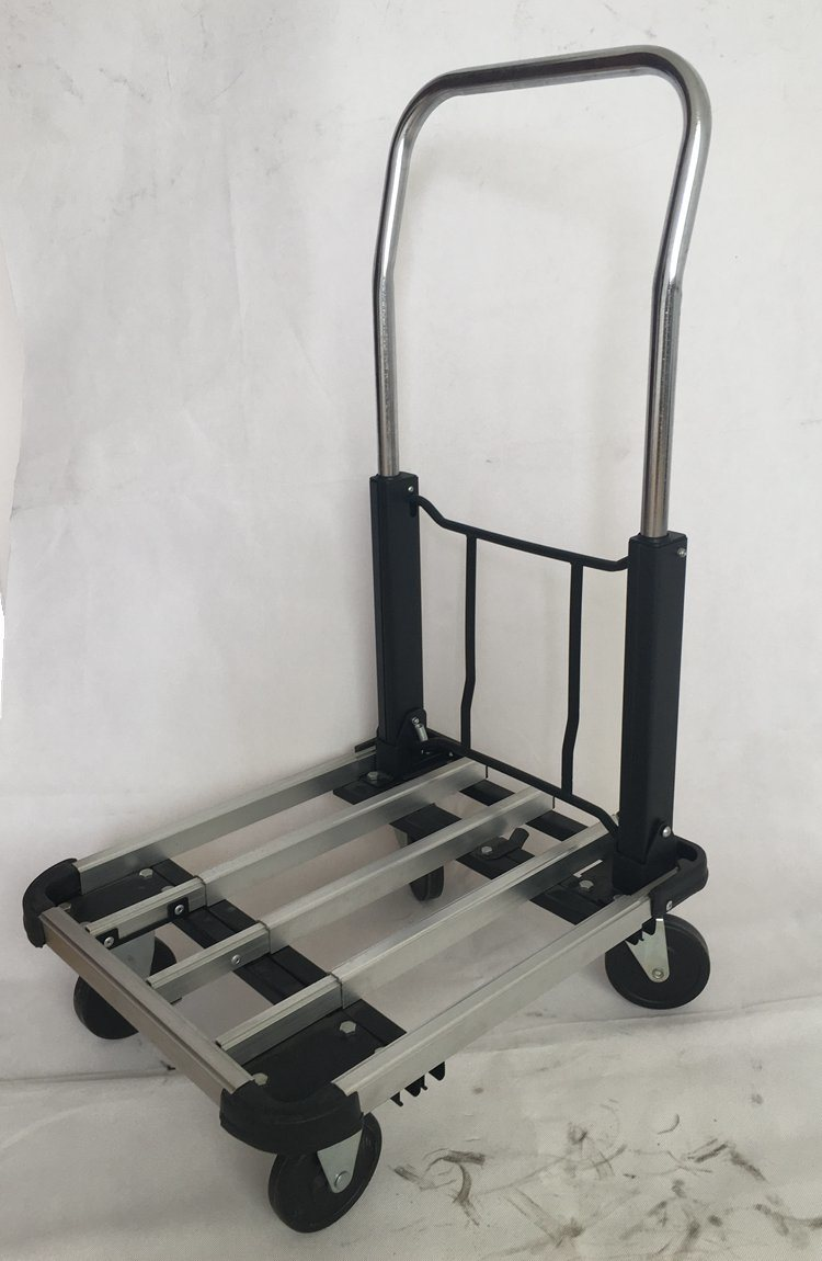Aluminium Four Wheels Flat Outdoor Folding Cart Garden Cart Shopping Cart
