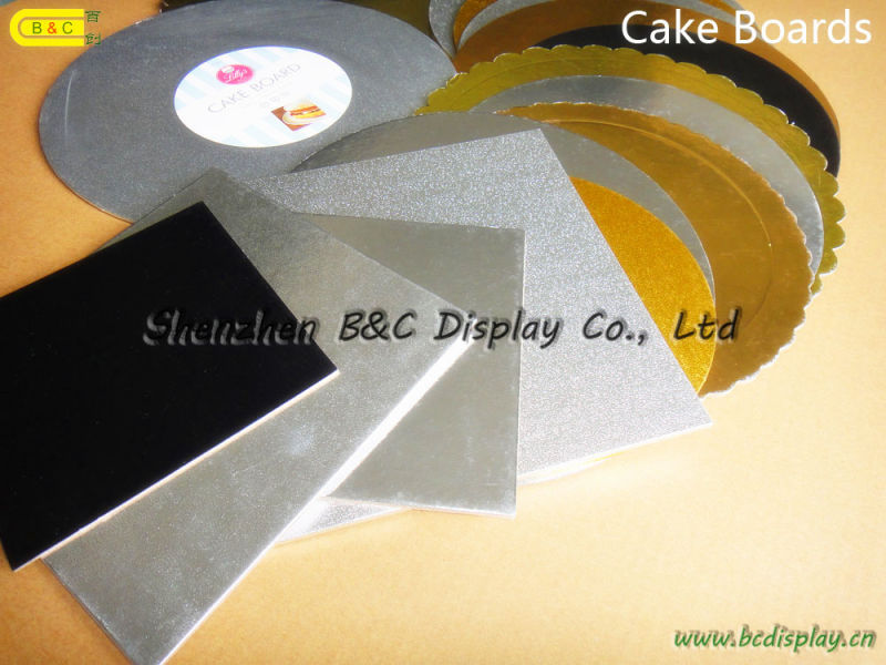 Hot Selling Round Shape with Flower Edges Cake Drums, Eco-Friendy with SGS (B&C-K075)