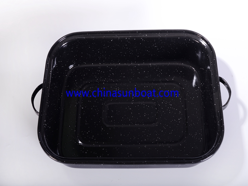 Enamel Baking Tray with Handle