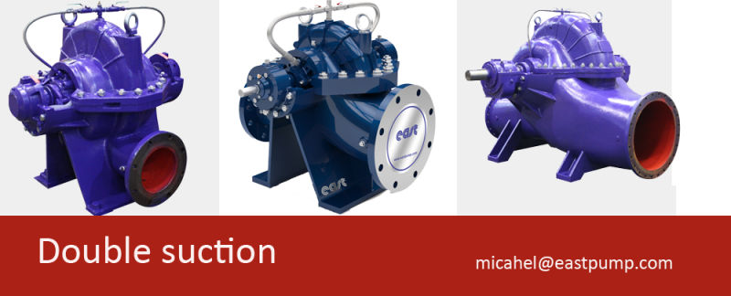 Axial Split Case Double Suction Centrifugal Pump, High Volume Capacity Drainage Water Pump