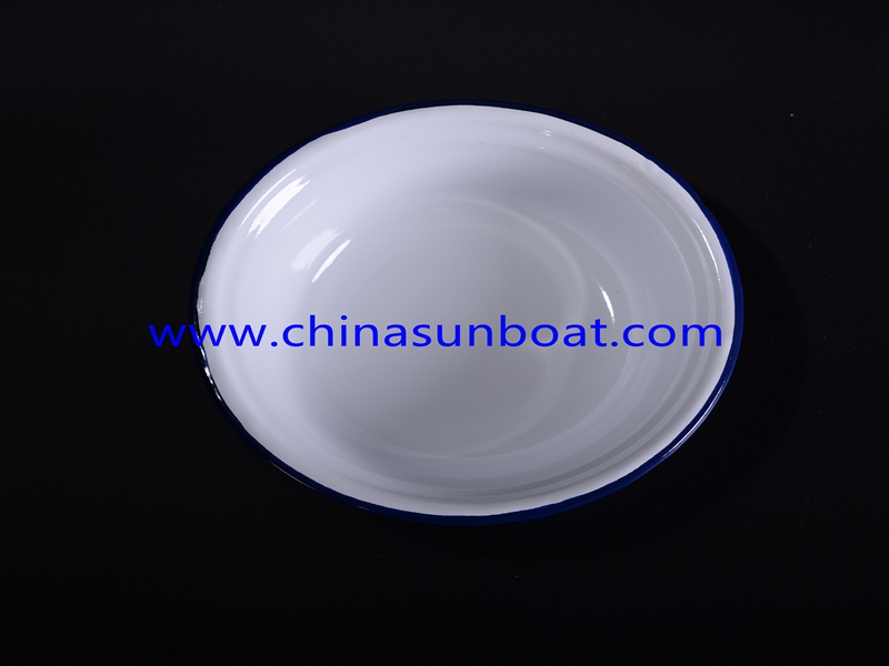 Enamel Round Butter/Food/Fruit Dish Sets for Hotel