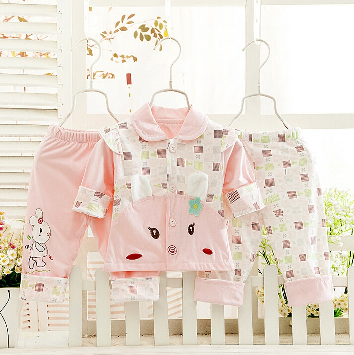 100% Cotton 3PCS Newborn Printed Baby Suit